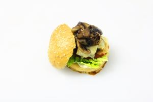 Portobello+mushroom+and+black+bean+vegetarian+burger