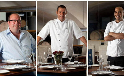 Jonathan Davies, Chef Ian Bergh, Chef Garth Davidswww.degrendel.co.za